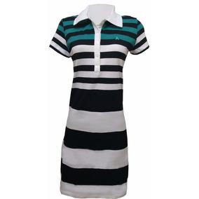 Vestido De Malha 100% Algodão Branco Preto E Verde Cod10