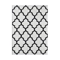 Alfombra / Tapete Modern Mdr1004 White Black 2.1 X 2.7mts