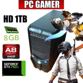 Computador Gamer 1tb 8gb Ram Amd A8-7600 Gtx 750ti Para Jogo