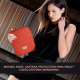 Estuche Michael Kors Ipad/tab Cuero Naranja - Original Nuevo