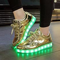 Zapatos Leds De Botas Moda Cargador Usb Modernos Importados