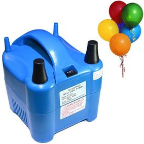 Bomba Ar Balões Compressor 2 Bicos Adaptador Bico Fino Largo