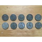 Set 10 Monedas De Un Peso 1958 1962 Morelos Plata Ley 0.100