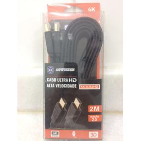 Cabo Hdmi 2 Metros Blindado Ultrahd 4k 3d 2.0 Tv Box Htv