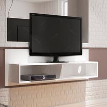 Estante De Parede Para Tv Branco Bw 03-06 Em Mdp