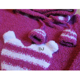 Pullover Canguro Buzo De Bucle Bebe Nena C/ Capucha 0-4 Años