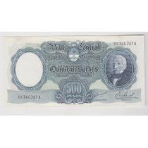 Billete Argentina 500 $ Mon Nac Bottero 2123 Sin Circular-