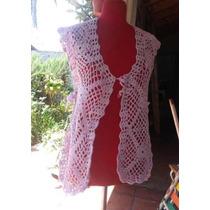Vestido De Playa Chaleco Tejido Crochet Artesanal