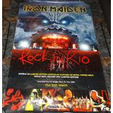 Poster Iron Maiden Rock In Rio Promocional De Coleccion