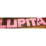 Nombre Cumple Personajes $45x Letra En Espuma Pintadas