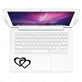 Two Heart Keypad Iphone Ipad Macbook Decal Skin Sticker Lapt