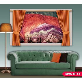 cuadros modernos decorativos cortina mxcm