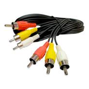 Cable Rca 3 Rca A 3 Rca Macho 1,5 Metros Audio Y Video
