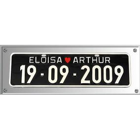 Placa De Carro Personalizada Casamento E Datas Especiais
