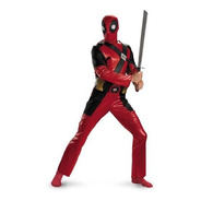 Traje Deadpool Universo Marvel Disfraz De Hombre