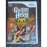 Juego Wii Original Guitar Hero