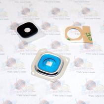 Marco + Lente Cristal De Camara Samsung Galaxy A800 A8 Plata
