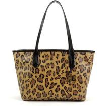 Bolso Ralph Lauren Caldwell Leopard Small Shopper Tote !