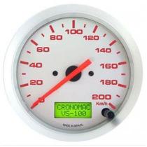 Velocímetro Cronomac Eletrônico 100mm 200km/h Linha Racing