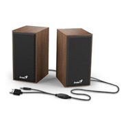 Parlante Genius Stereo Aux 3.5 Control Vol Pc Notebook Tv 6w