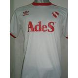 Camiseta Independiente Retro.. Ades Blanca