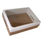 Caja Para Desayuno O Torta 43x32x12 Con Visor X30u