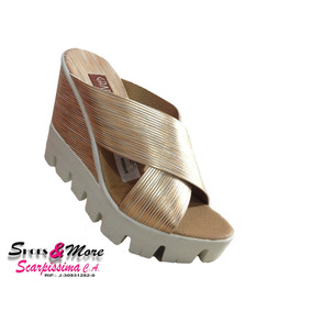 Sandalia Para Dama Gran Turismo P12902 Dorada
