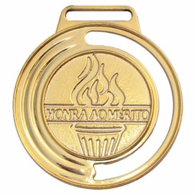Medalha 4cm Honra Ao Mérito C/ Fita 35 Unidades