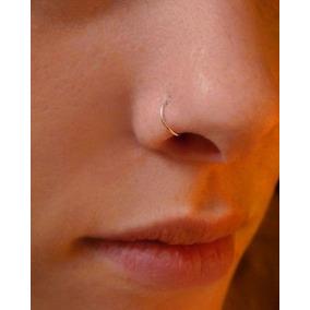 Piercing Nariz Argola E Orelha Cartilagem Ouro 18k 750