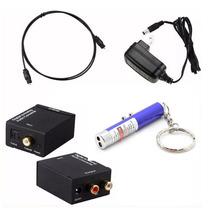 Convertidor Audio Digital Toslink Rca + Cable + Laser