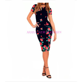 Vestido Midi Tubinho Moda Evangélica Justo Blogueira Longuet