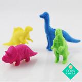 Set X4 Unidades Goma Borrar Dinosaurio Kawaii | Popa Cosas