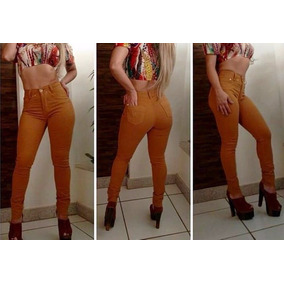 Calca Jeans Feminina Promoção Skinny E Flare Cintura Alta