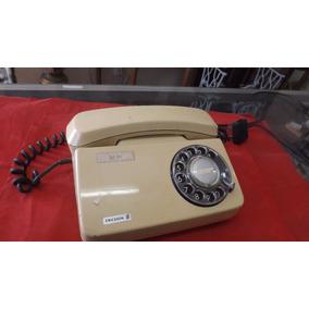 Telefone Antigo Ericsson Quadrado Disco Beje # 3982