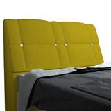 Cabeceira C/ Baú Itália Box Casal 1,95 Nest Canário Amarelo
