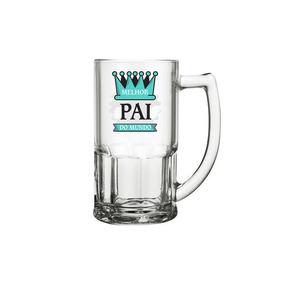 Caneca P/ Chopp Cerveja De Vidro - Melhor Pai (dia Dos Pais)