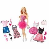 Barbie Malibu Rubia + 12 Accesorios Ropa Zapatos Carteras