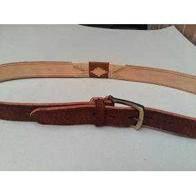 Cinturon Cuero De Carpincho Bordado