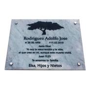 Placa Granito, Mortuoria,cementerio, Nicho, Tumbas 30x20 Cm.