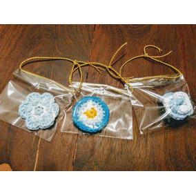 Escarapelas Artesanales! Tejidas Al Crochet! X 10 Unidades.