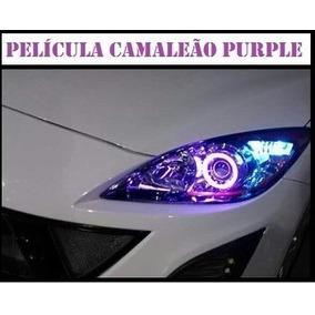 Película Camaleão P/ Farol Violeta Tuning Purple 1,5m X 30cm
