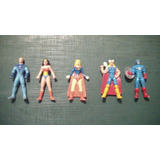 Lote De Cinco Muñequitos De Jack Superheroes 4 Cm /40 Mm