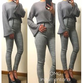 Sweater Saco Lanilla Mujer Abrigo Mangas Oxford