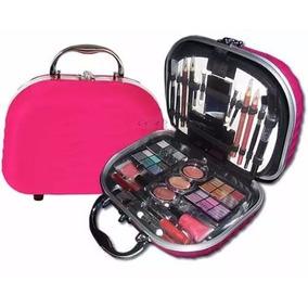 Maleta Maquiagem Profissional Rosa Fenzza Pink Frasqueira
