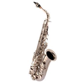 Saxofone Alto Eagle Sa500 Em Mib (eb) Com Case - Niquelado