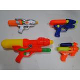 New 4 Arma Agua Juntas Pistola Revolver Shotgun Bazoka Fuzil