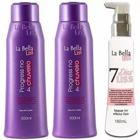 2 Progressivas No Chuveiro La Bella Liss+ 7 Dias Liss Grátis