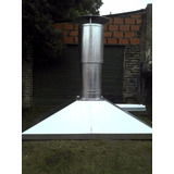 Campana Para Parrilla Chapa Galvanizada Cal. 25. 120x70cm
