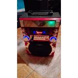 Equipo De Karaoke Portátil Onda Retro, Mp3 Blue Toost