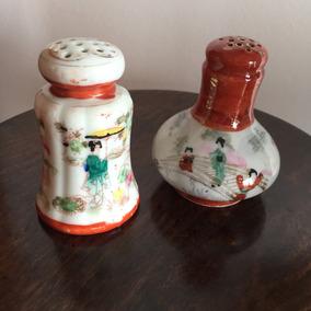Saleiros/paliteiros Em Porcelana Japonesa Antiga